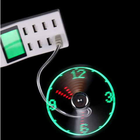 World's best LED USB clock fan