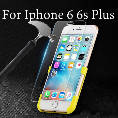 Tempered Glass Protector For Iphone 7 6 6s Plus 5 5s SE Clear HD 9H Explosion Proof Screen Film Toughened Membrane + Clean Tools