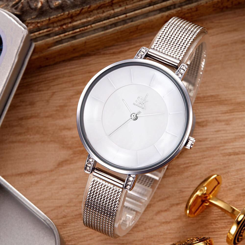 Stainless Steel Mesh Wristband Water/Shock Resistant Watch - Valerian Boutique
