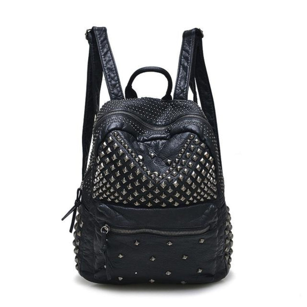 Leather Rivet Backpacks - Valerian Boutique