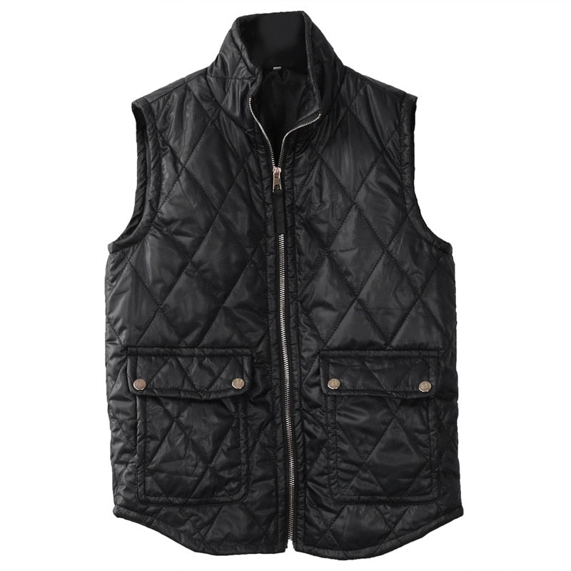 Winter Slim Sleeveless Vest Jacket Zipper Waistcoat - Valerian Boutique