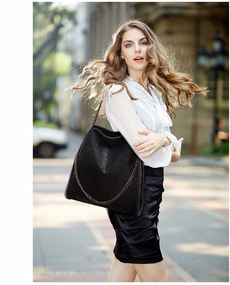 Leather Fashion Chain Women's Messenger Shoulder Bags - Valerian Boutique
