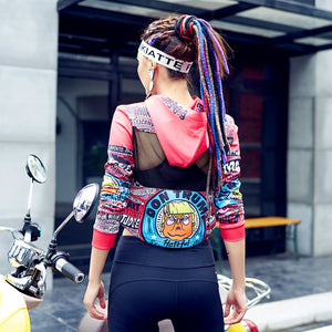 Punk Printed Long Sleeve T Shirt/Top - Valerian Boutique