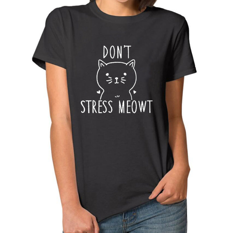 Funny boho style graphic tops cute cats tee - Valerian Boutique