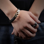 Rope Chain Magnetic Bracelets Golden Stainless Steel - Valerian Boutique
