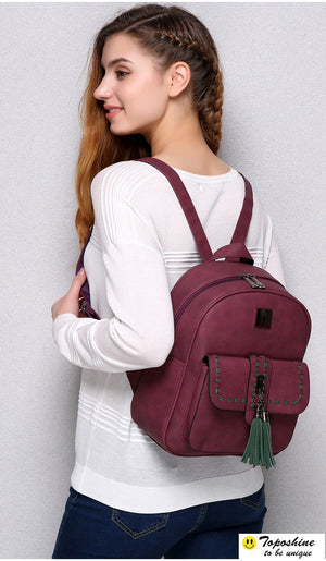 Retro Panelled Backpacks - Valerian Boutique