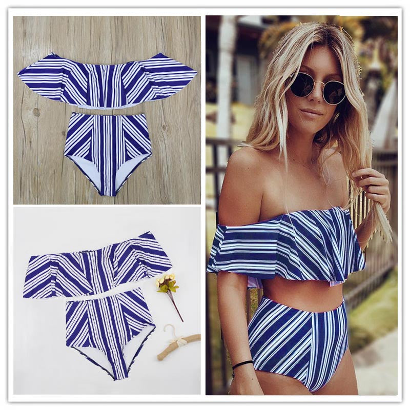 High Waist Swimsuit Biniki - Valerian Boutique