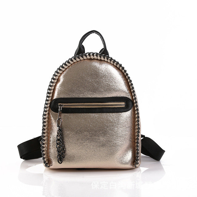 Women Backpack Glitter Soft PU Leather - Valerian Boutique