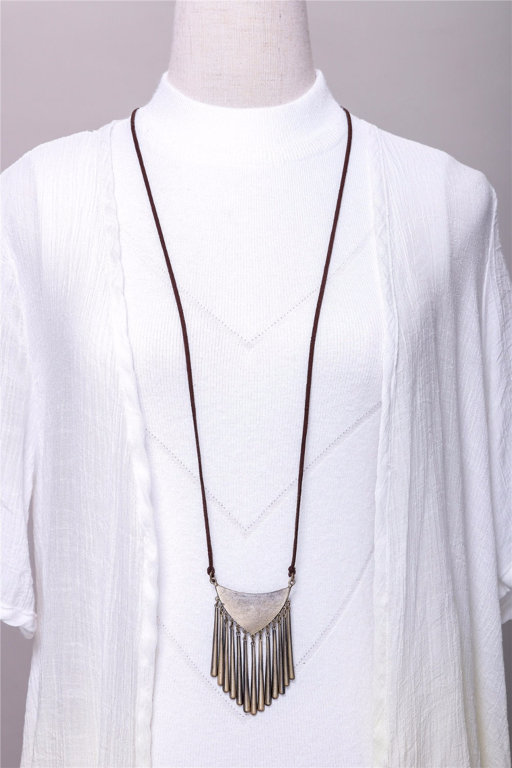 Long Vintage Necklace - Valerian Boutique