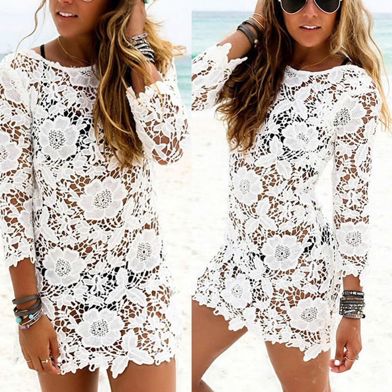Lace Crochet Tassel Cover Up - Valerian Boutique
