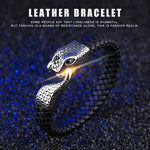 Genuine Leather Stainless Steel Bracelet - Valerian Boutique