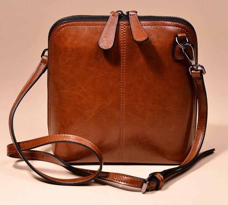 Genuine leather women's shoulder crossbody bag - Valerian Boutique