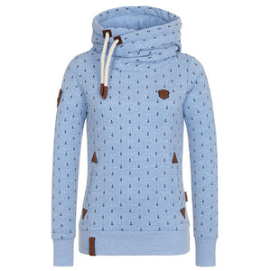 Long Sleeve Shirts Hooded Casual Top - Valerian Boutique