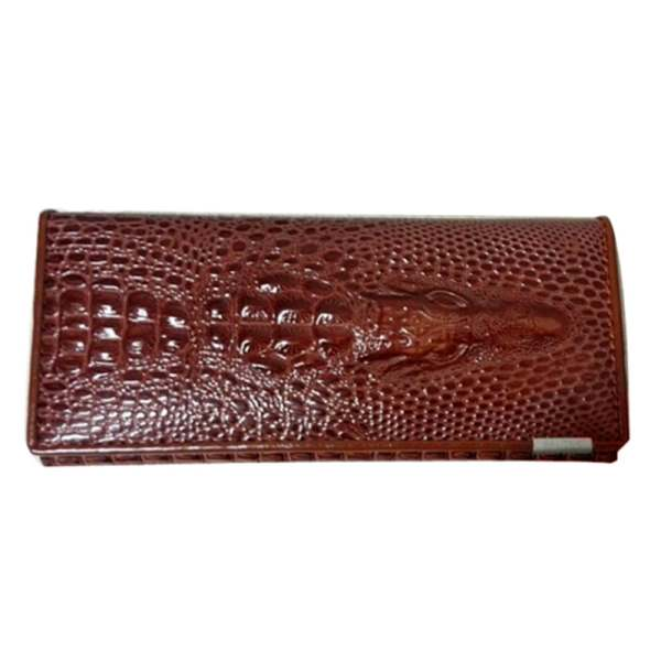 Genuine Leather 3D Embossing Alligator Ladies Crocodile Wallet - Valerian Boutique