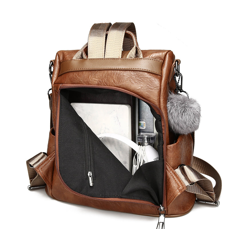 Women backpack 3 ways to use. backpack + hand bag + shoulder bag - Valerian Boutique