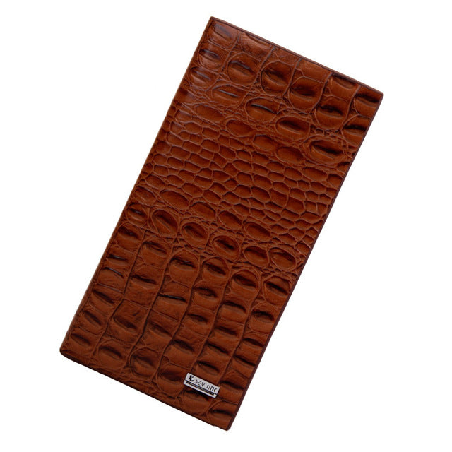 High quality PU leather alligator texture wallet - Valerian Boutique