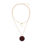 Wooden Pendant Multilayer Necklaces - Valerian Boutique
