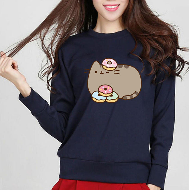 Graphic Print Long Sleeve Sweatshirt T-Shirt - Valerian Boutique