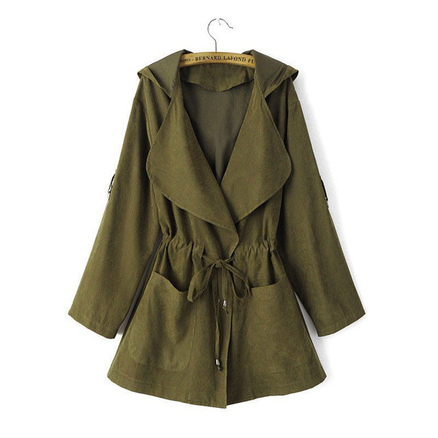 Spring Autumn Long Jackets Coat