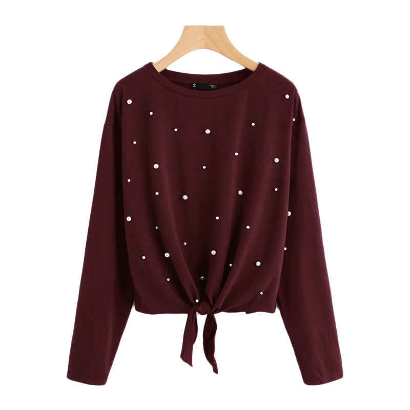 O-Neck Long Sleeve pullover Shirt - Valerian Boutique