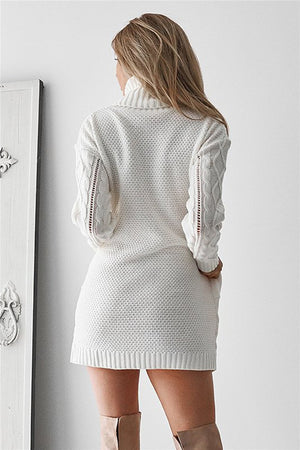 Turtleneck Sweater Hollow Out Sweater - Valerian Boutique