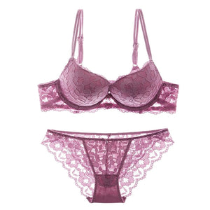 Lace  Bra + Panty Set - Valerian Boutique