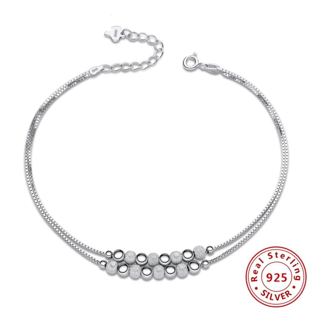Solid 925 Sterling Silver Box Link Chain Bracelets - Valerian Boutique