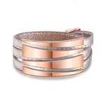 Genuine Leather Stainless Steel Wrap Bracelets - Valerian Boutique