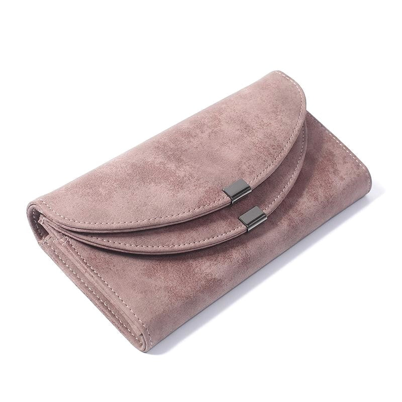 Luxury Brand Leather Women Wallets Solid Color Hasp Long Purses Money Bag Credit Cards Holder High Quality Clutch Wallets Ladies - Valerian Boutique