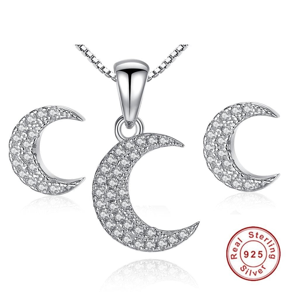 For Brides 925 Sterling Silver Austrian Crystal CZ Jewelry Sets - Valerian Boutique