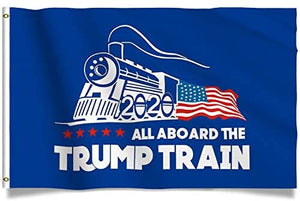 Trump Train Donald Trump Flag - Jump aboard the Trump Train - 3x5ft - Patriotic Source