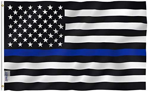 Thin Blue Line Flag - 3x5ft - Support the Blue Flag - Patriotic Source