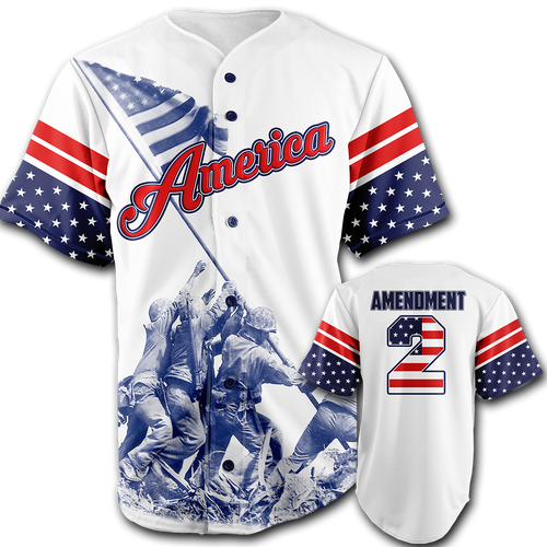 Liberty Jersey - Team America 2nd Amendment Baseball Jersey - Patriotic Source
