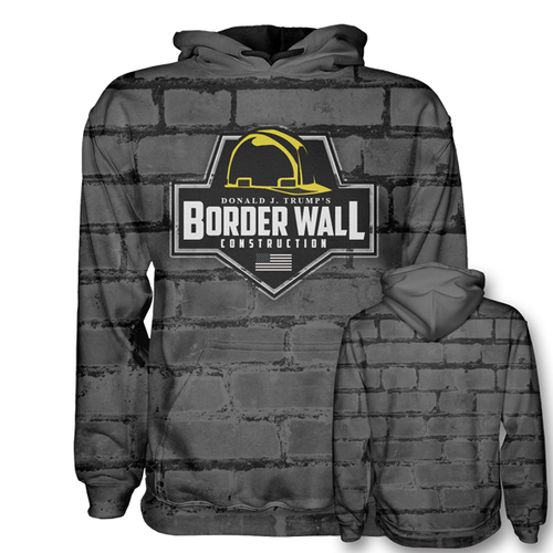 Border Wall Construction Hoodie - Build that Wall Hoodie - Patriotic Source