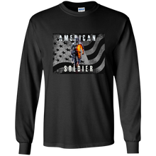 USA American Army Soldier Shirt Long Sleeves in Cotton - Patriotic Source