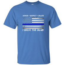 Patriotic Kids: Back the Blue Kids T-Shirt - Children's Blue Line Tee - Patriotic Source