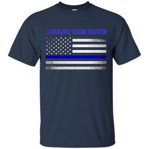 thin blue line tshirt  back the blue
