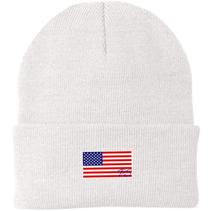 American USA Flag Beanie - Sports Patriotic Winter Hat Made in USA - Patriotic Source