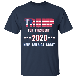 Trump for President 2020 - Keep America Great T-Shirt Made in USA - Patriotic Source