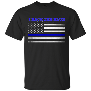 Support the Blue - Back the Blue T-Shirt Made in USA - Patriotic Source