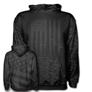 We The People Hoodie in Black and Grey - Patriotic Source