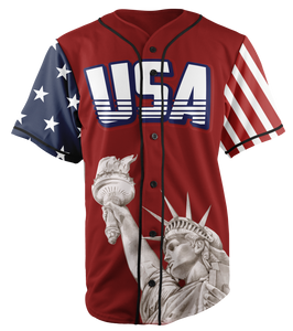 Limited Edition Red Trump #45 Baseball Jersey - Patriotic USA Jersey - Patriotic Source