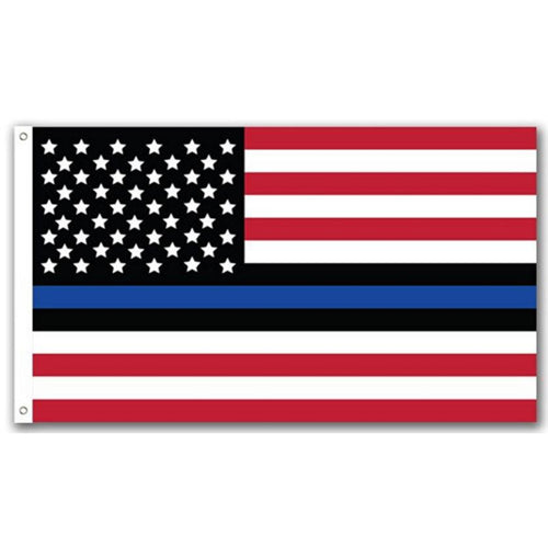 USA Thin Blue Line Flag - American Flag and Blue Line in One - Patriotic Source
