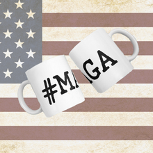 #MAGA White Mug -Make America Great Again- Made in USA - Patriotic Source