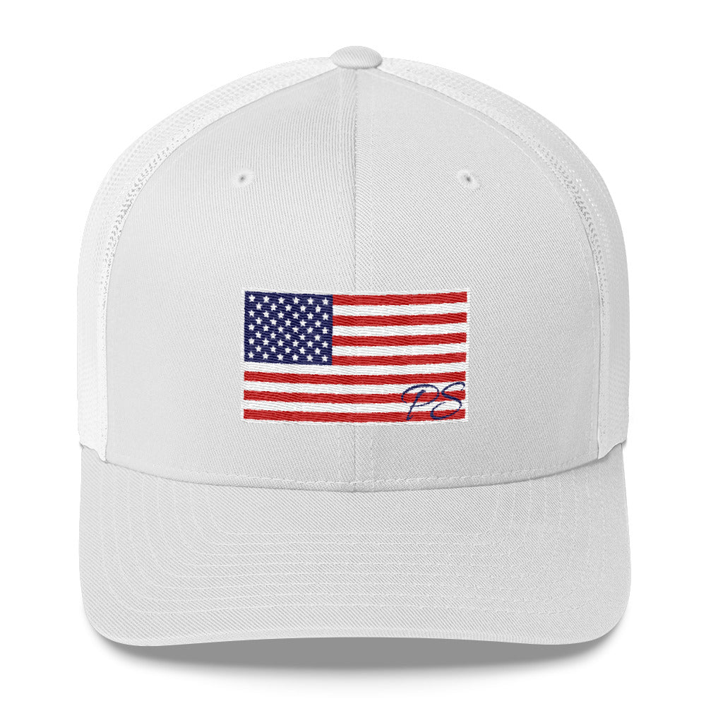 Old Glory American Flag SnapBack Trucker Hat Made in USA