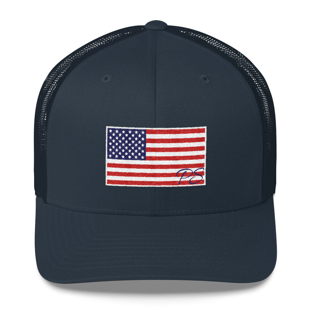 e6972dd8a15a9c ... Old Glory American Flag SnapBack Trucker Hat Made in USA - Patriotic  Source ...