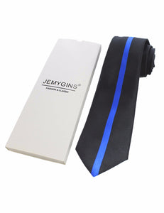 USA Police Thin Blue Line Necktie - Comes in Gift Box - Patriotic Source
