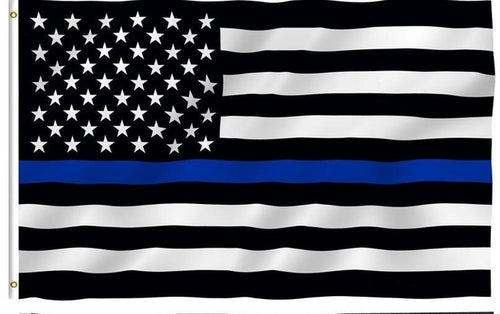 FOR EUROPE ONLY- Thin Blue Line Flag - USA Flag - Gadsen Flag - Patriotic Source