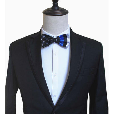 Thin Blue Line Bowtie -Thin Blue Line Apparel For Special Events - Patriotic Source