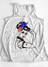 WE CAN DO IT - Women Power Tank Top - Rosie the Riveter Top USA COLORS - Patriotic Source